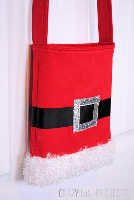 Santa Tote Bag Tutorial by Crazy Little Projects