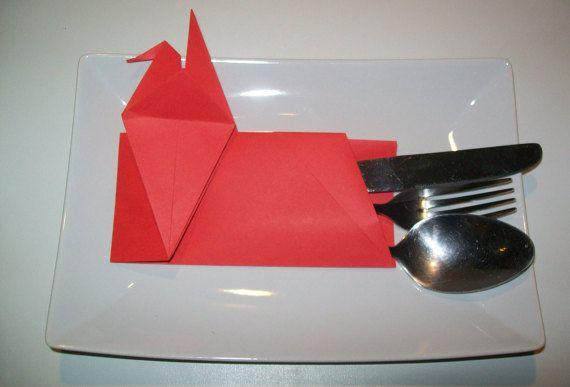 Set of 100 Origami Cutlery holder wedding table by Handmadegiftbox