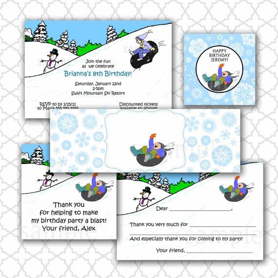 Snow Tubing Invitations was Best Layout To Create Elegant Invitation Ideas