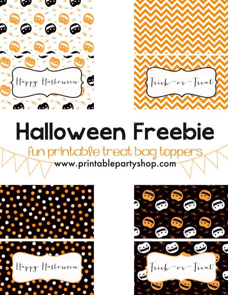 Halloween Treat Bag Toppers Freebie DIY  frostedevents.com @frostedevents   Halloween Treats for Kids, halloween ideas, halloween treats, kids halloween ideas, free printables