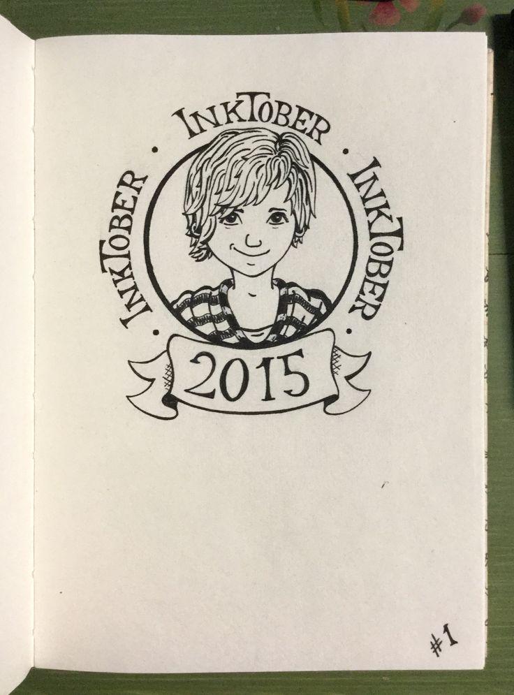 #inktober Day 1 - Self-portrait for InkTober 2015 :)