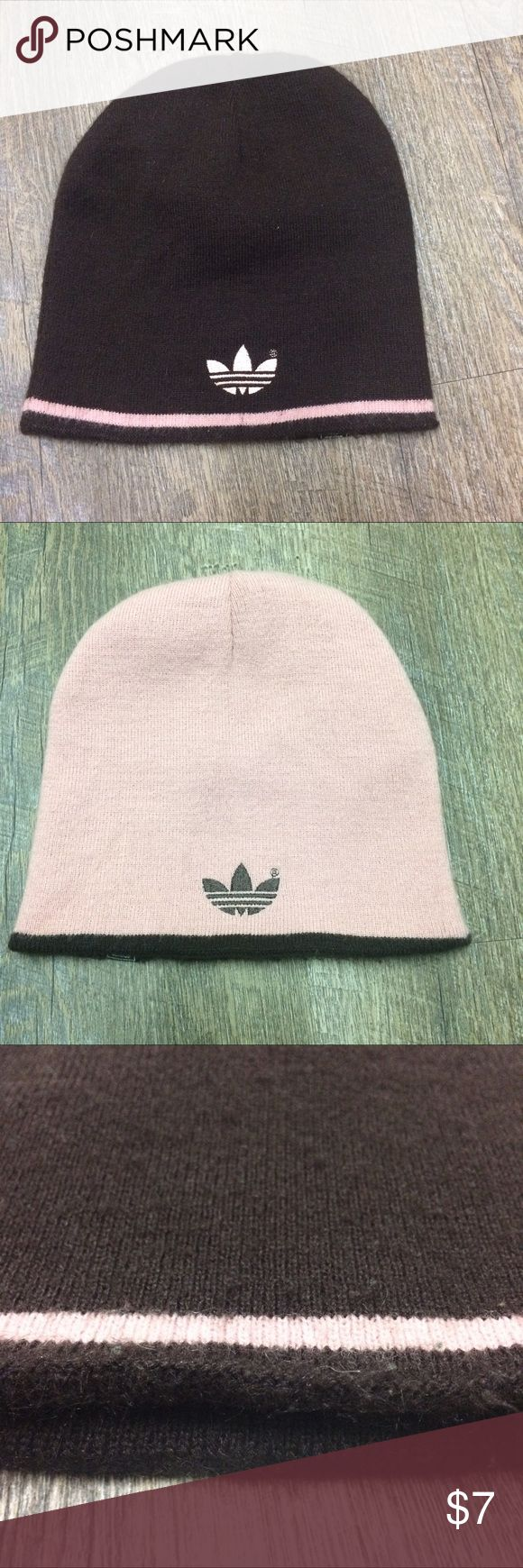 ADIDAS Beanie Reversible Pink and Brown Beanie - only flaw is the pilling (pictured) adidas Accessories Hats