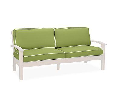 Tufted Sofa Chatham Sofa Replacement Cushion Set Sunbrella R Contrast Piped Peridot