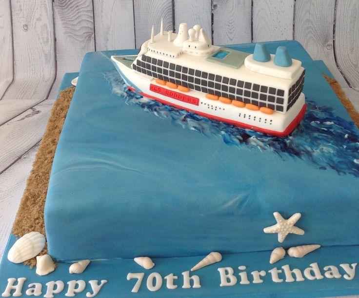 18 best Cruise ship cake images on Pinterest Petit fours