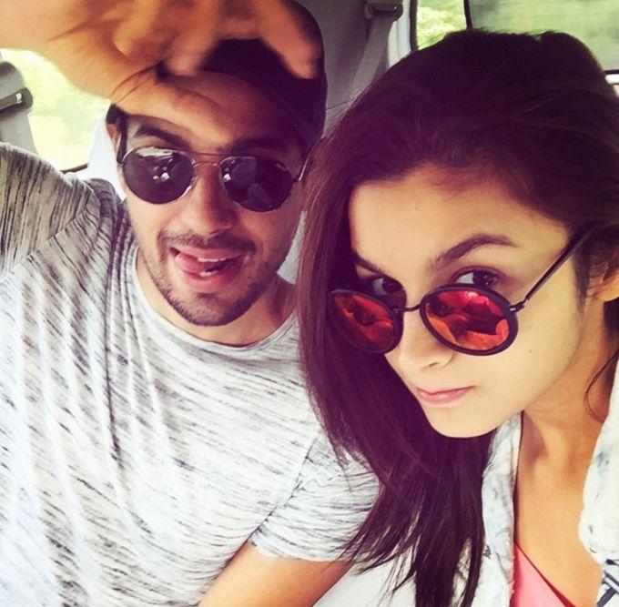Sidharth Malhotra and Alia Bhatt on the sets of Kapoor And Sons   Source: Alia Bhatt Instagram  