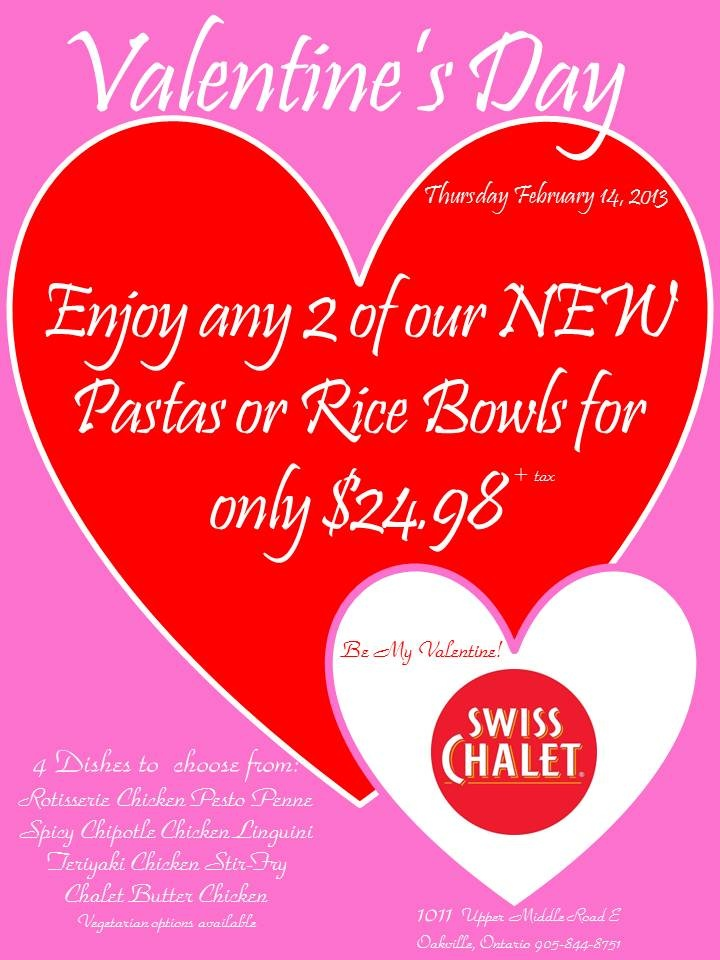 Valentine's Day at Swiss Chalet
