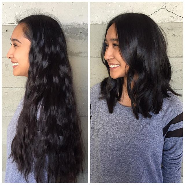 From long hair to short hair. Beautiful hair makeover hair transformation beauty makeover by Jacqui of Butterfly Loft Salon hotonbeauty