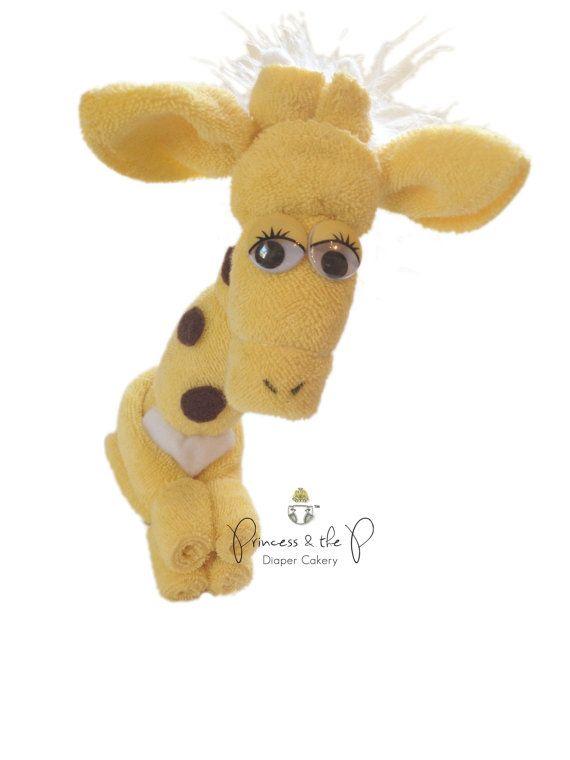 Baby Washcloth Giraffe Jungle Baby Shower door PrincessAndThePbaby