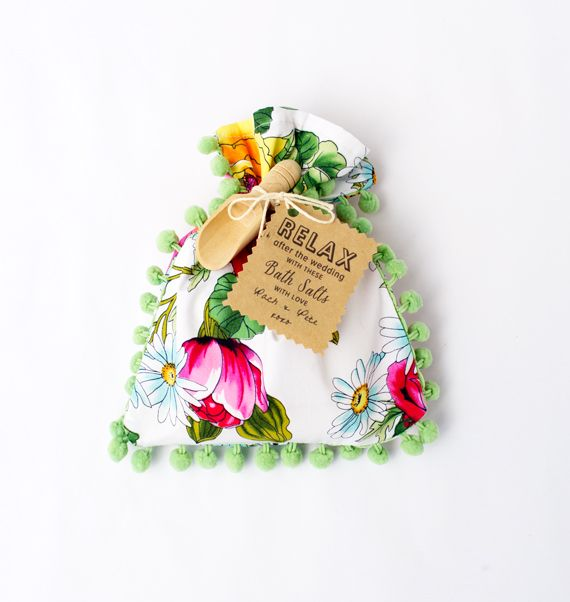 ~Badzout-zakjes als bedankje om te relaxen na de bruiloft~