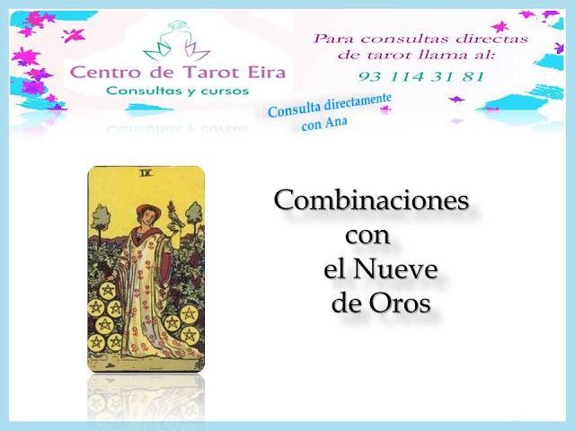 Ana Tarot Combinaciones Nueve De Oros Tarot Tarot Cartas Tarot Marsella