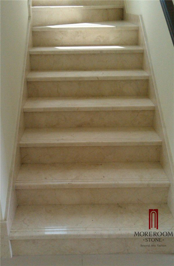 beige marble stair: