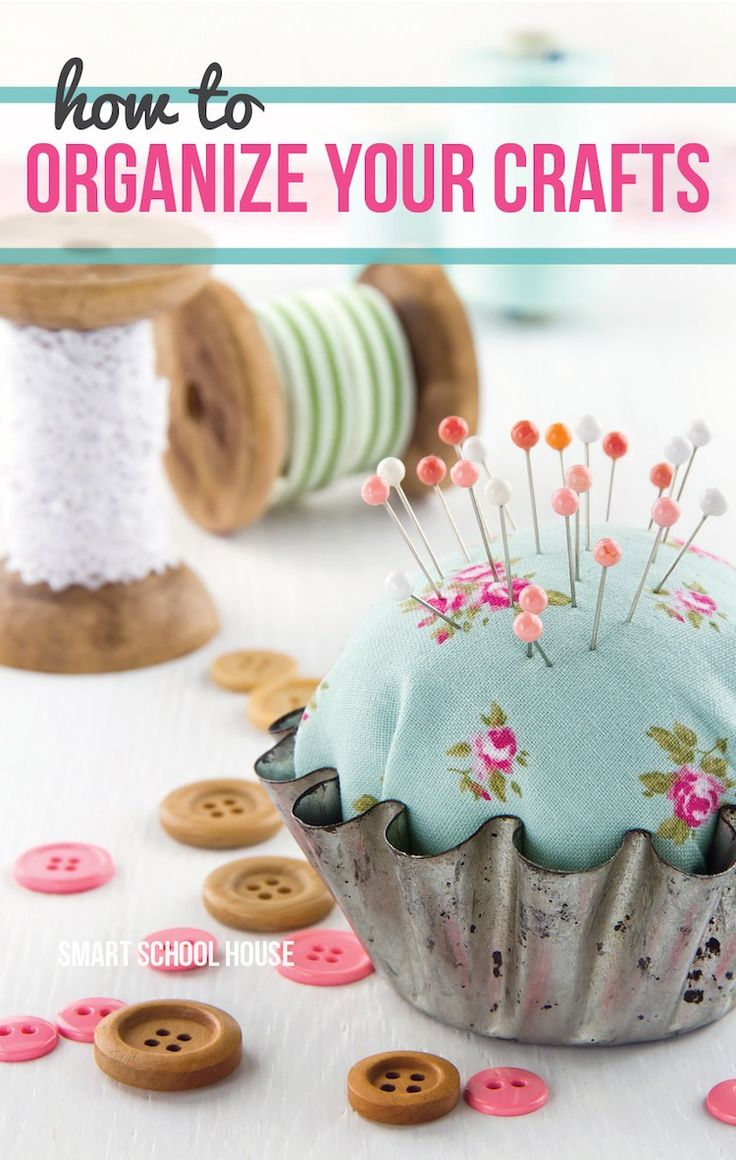 Find out easy and creative ways to organize your crafts right here.