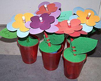 bloemen met potlood traktatie