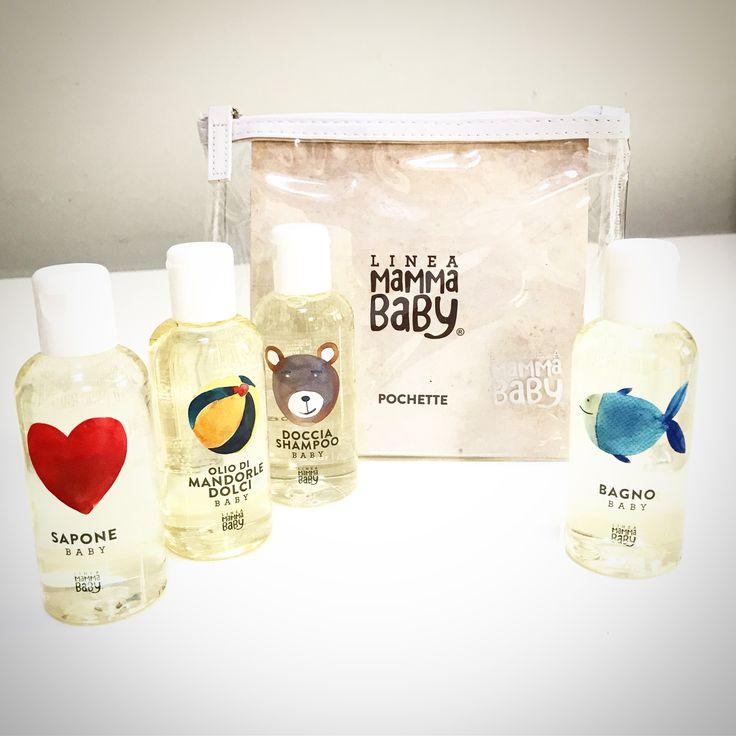 Set da viaggio - Linea Mamma Baby, ideale per la pelle delicata dei bambini.