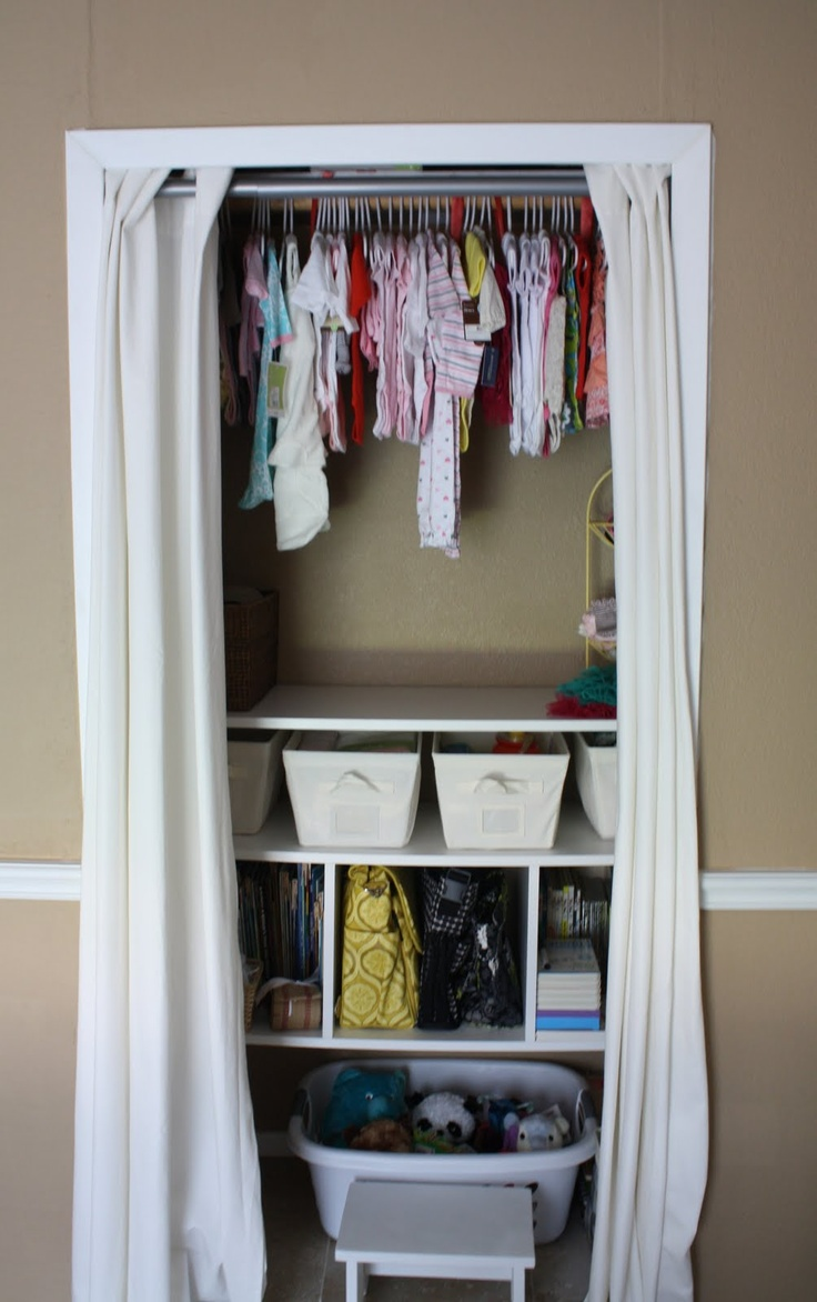 Small Closet Just The Idea Of Curtains Instead Of Door!