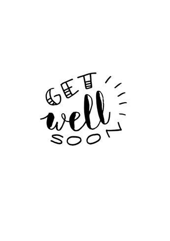 Free 'Get well soon' handlettering printables by Luloveshandmade.