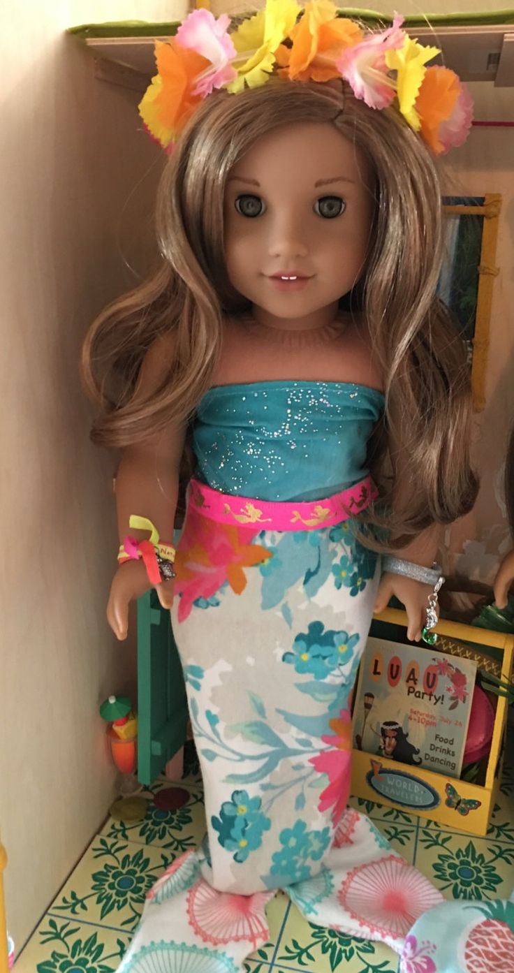 Lea Clark Inspired Mermaid Tail Outfit Fits 18inch American Girl Dolls by MermaidsAndDolls on Etsy