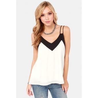 Compra Mujer Camisas mangas del tirante de espagueti atractivas Blusas Camisetas sin mangas blanco - con envío a todo Colombia | No hagas filas, paga al recibir sólo en Linio | ¡Entra ya!