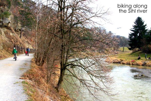 Bike along Sihl River