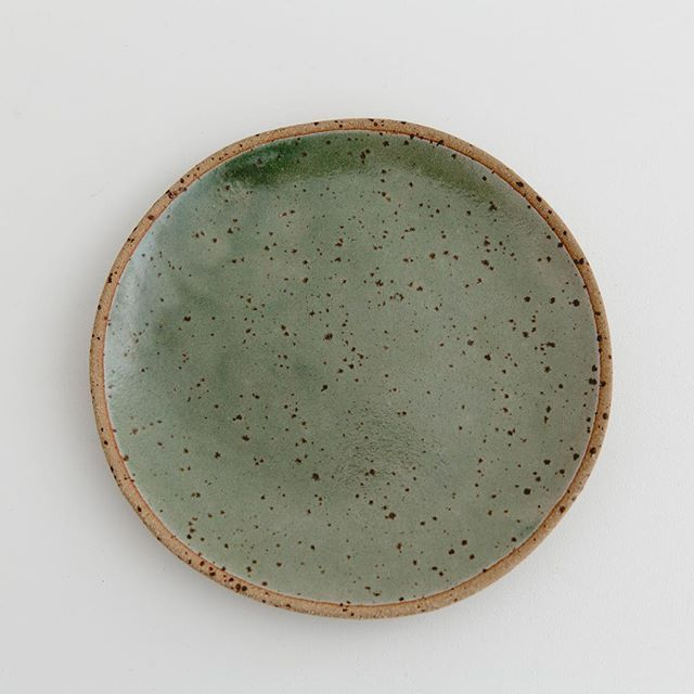 Speckled green side plate