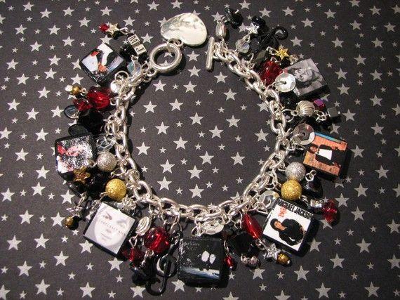 Michael Jackson Bad Tribute Charm Bracelet - I need that ....