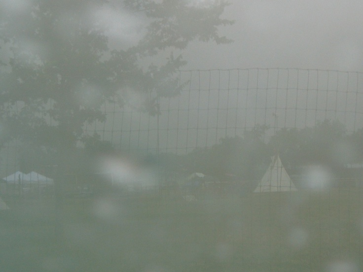 IT RAINED HARDER AT THE POW WOW