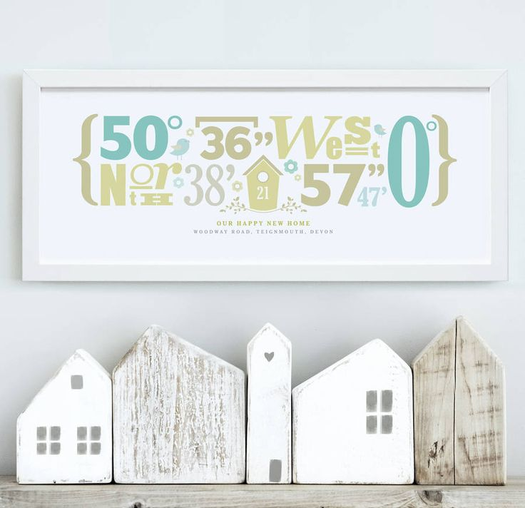 personalised 'our home' coordinates print by the drifting bear co.   notonthehighstreet.com