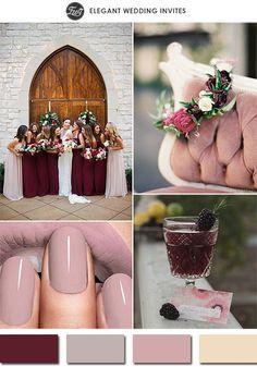 Inspirações com a cor marsala para deixar o seu casamento com um ar sofisticado em 2015! #marsala #casamento #noivinhasdeluxo #buque #bouquet #madrinhas #tiara #flores #paleta