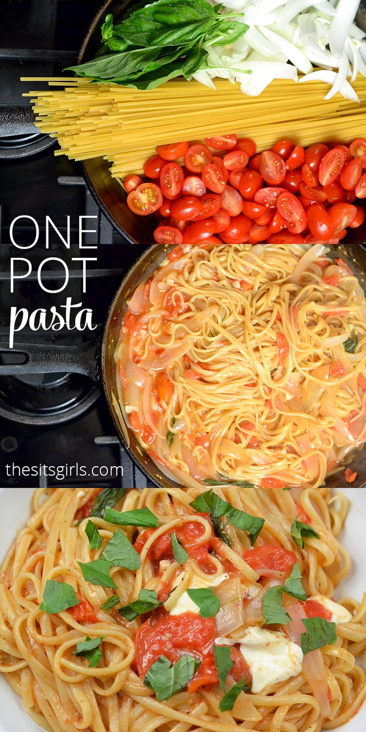 One pot pasta is the perfect summer pasta recipe. In 15 minutes you have a delicious dinner your whole family will enjoy with very little clean up.