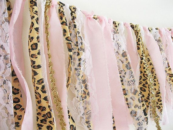 Leopard Print Baby Shower Banner  Pink and by ElizabethandDaniel