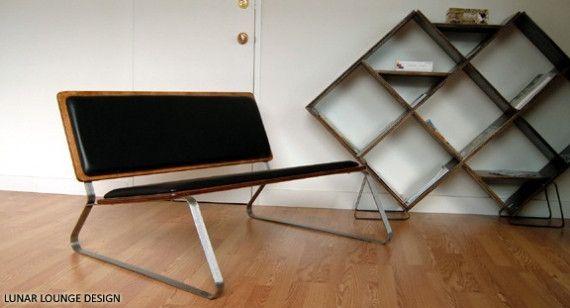 Ply Bak mid-century inspired bench. $550.00