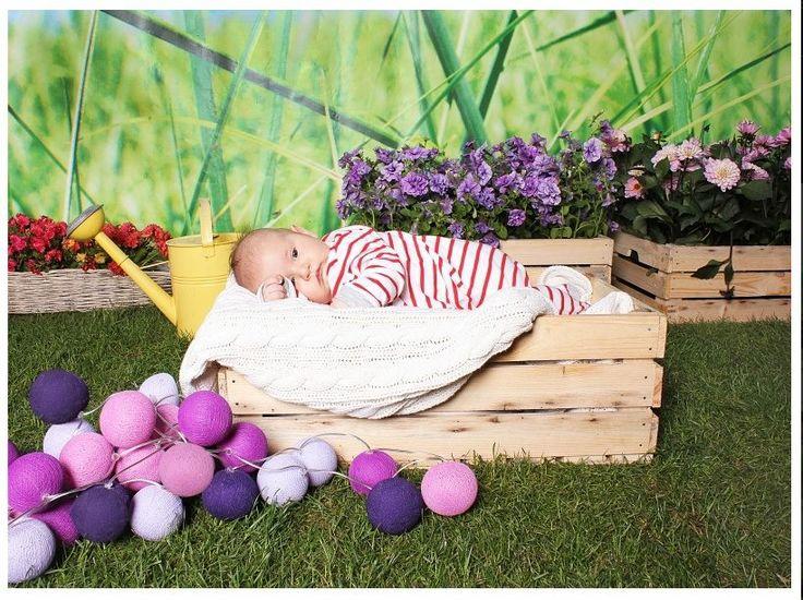 vi säger gonatt #cottonballs #mysigt #babies#mysigt #lampor #lila