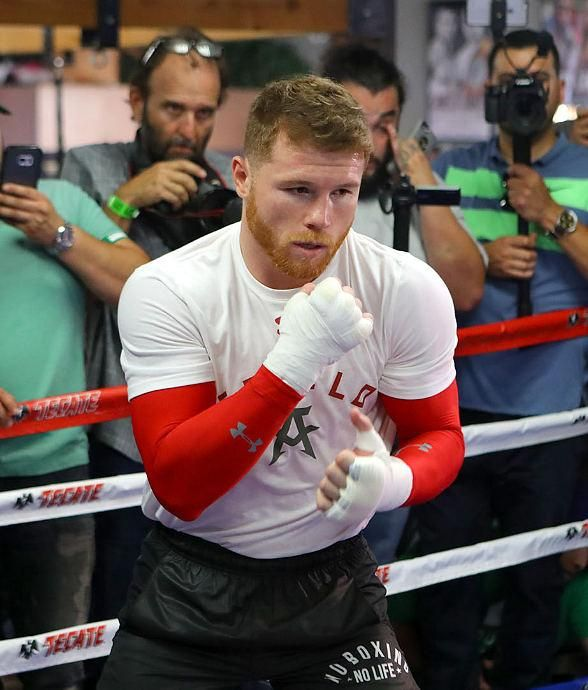 Photos/Video: Golden Boy Promotions Shines the Spotlight on Canelo Alvarez ahead of his Showdown with Julio Cesar Chavez, Jr. Saturday, May 6 at T-Mobile Arena (Photo credit: Golden Boy Promotions).