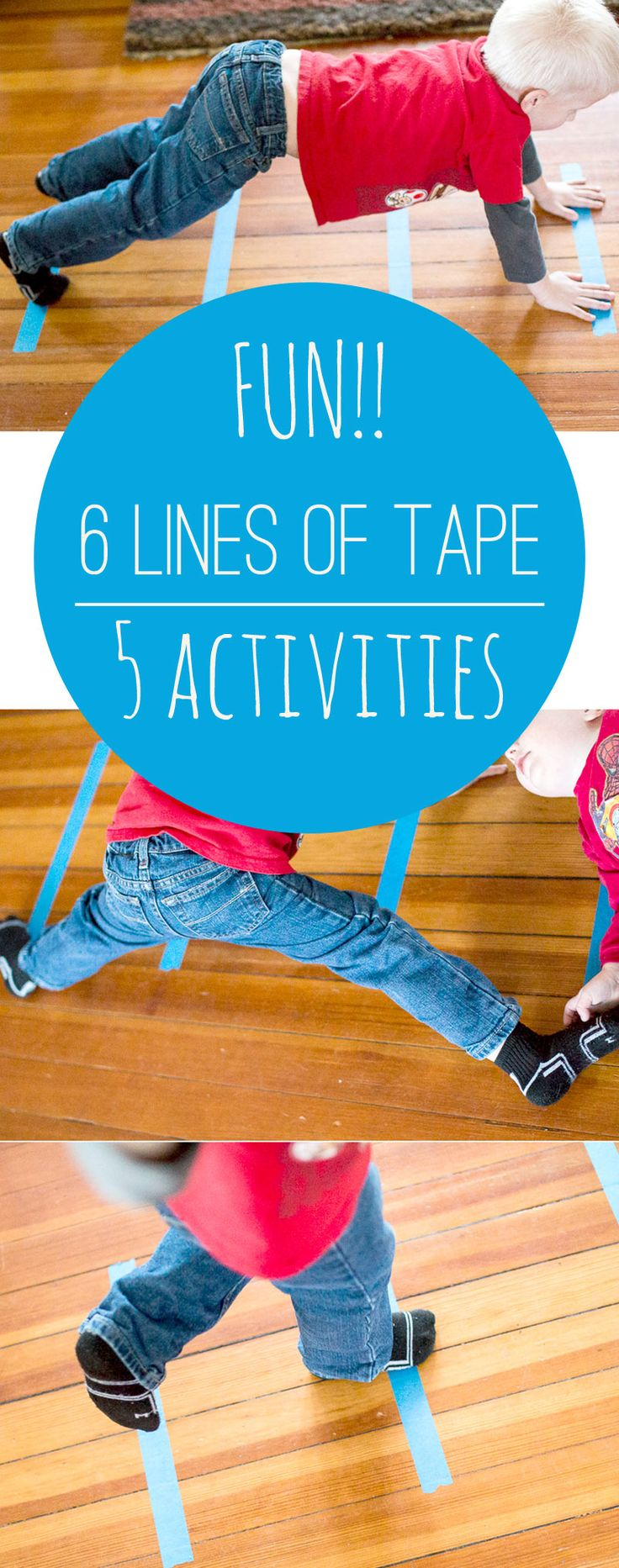 Genius! 5 things to do with the same 6 lines of tape - so simple!