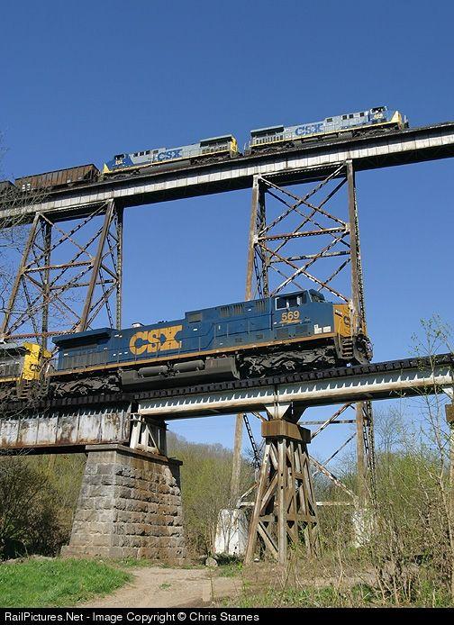 CSX Transportation (CSXT) GE AC4400CW at Clinchport, Virginia by Chris Starnes