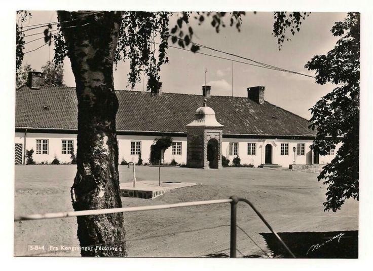 Festningen Kongsvinger i Hedmark fylke. 1950-tallet utg Normann