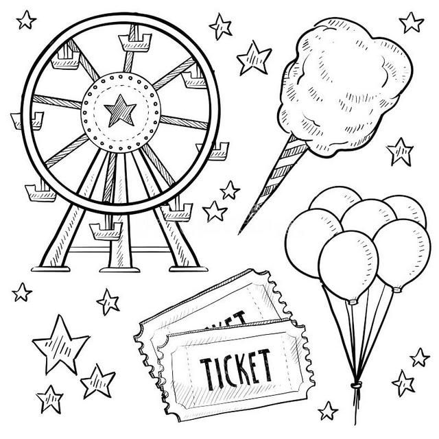 Fun Ferris Wheel Coloring Pages For Little Kids Bullet Journal