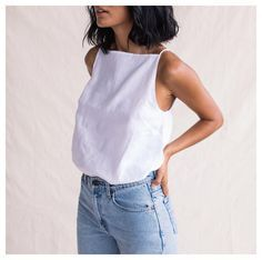 white tee & jeans is always stylish