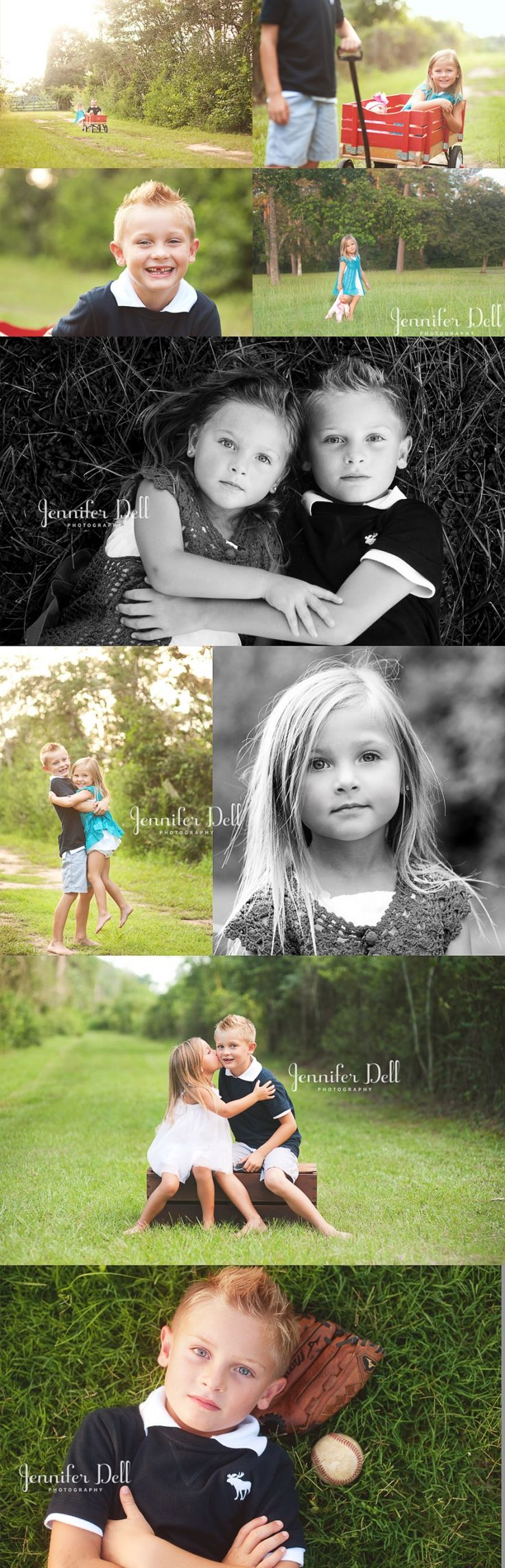 Great sibling photo ideas - I would like a portrait picture of each child individually and maybe a few together.... PLEASE :)