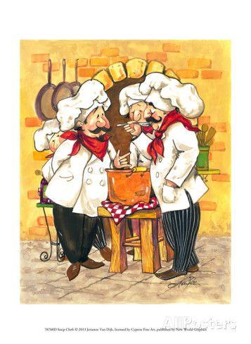 Soup Chefs Prints by Jerianne Van Dijk - AllPosters.co.uk