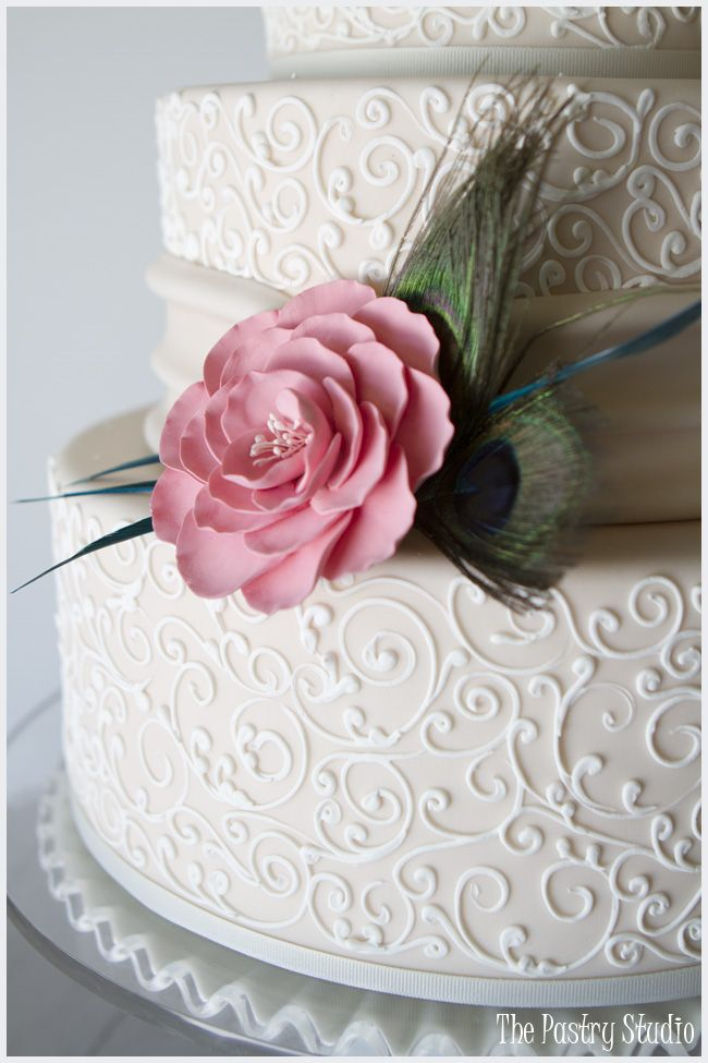 A Classic Wedding Cake Design with a touch of {Vintage Flair} by The Pastry Studio:Daytona Beach, Fl