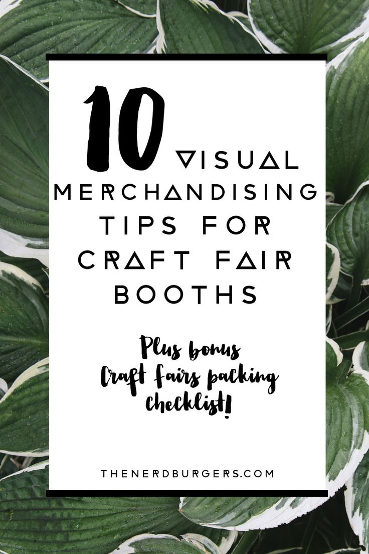 Visual merchandising 101 for Craft Fairs & Markets | The ...