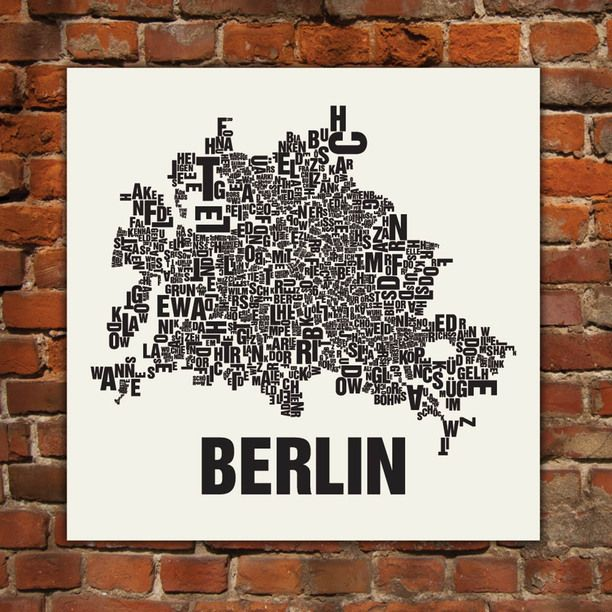 Berlin Screen Print Design-Inspirationen auf Fab.