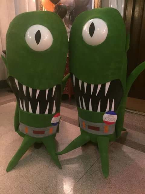 My best friend and I have been doing pairs costumes since we were 15. I think we really outdid ourselves this year! https://imgur.com/a/js0ji