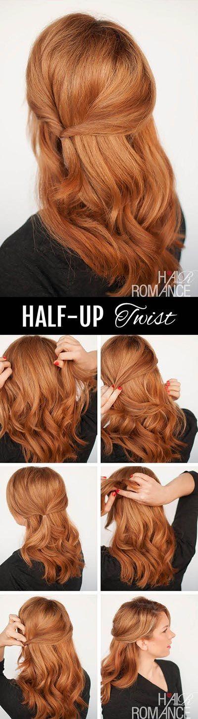 Easy Half Up Side Twist Hair Tutorial