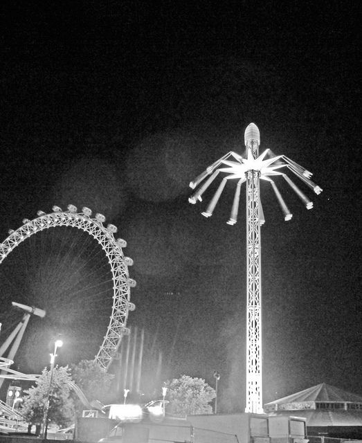 The Southbank - London Eye & funfair ride-night. London, UK IMG_2471 copy | Flickr - Photo Sharing!