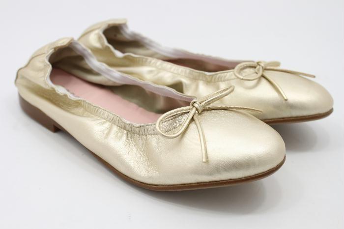 Eli goud leren ballerina met strikje