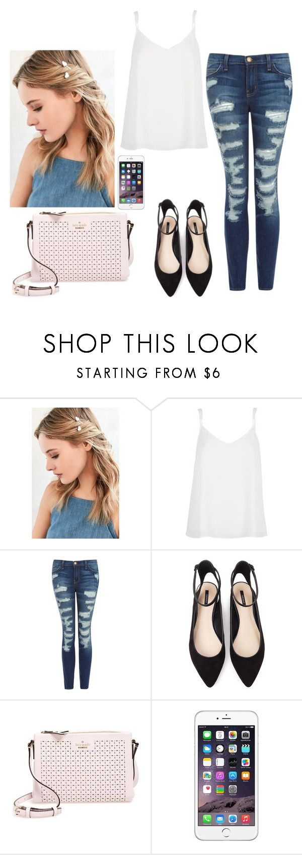 """""""Untitled #2462"""" by hannahmcpherson12 ❤ liked on Polyvore featuring Urban Outfitters, River Island, Current/Elliott, Forever 21 and Kate Spade"""