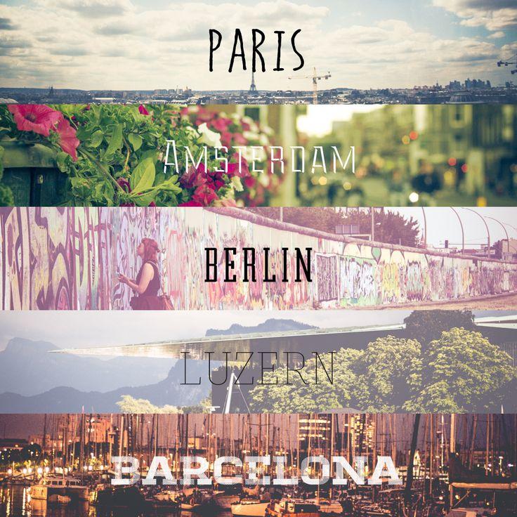 2014 #Europe travel #city #paris #amsterdam #berlin #luzern #barcelona #photography by #suhyeonkim