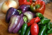 Purple Bell Peppers.(Peter Piper would've loved to picked these peppers!)